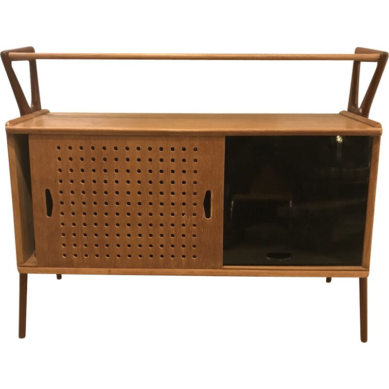 Vintage wooden sideboard by Louis Paolozzi