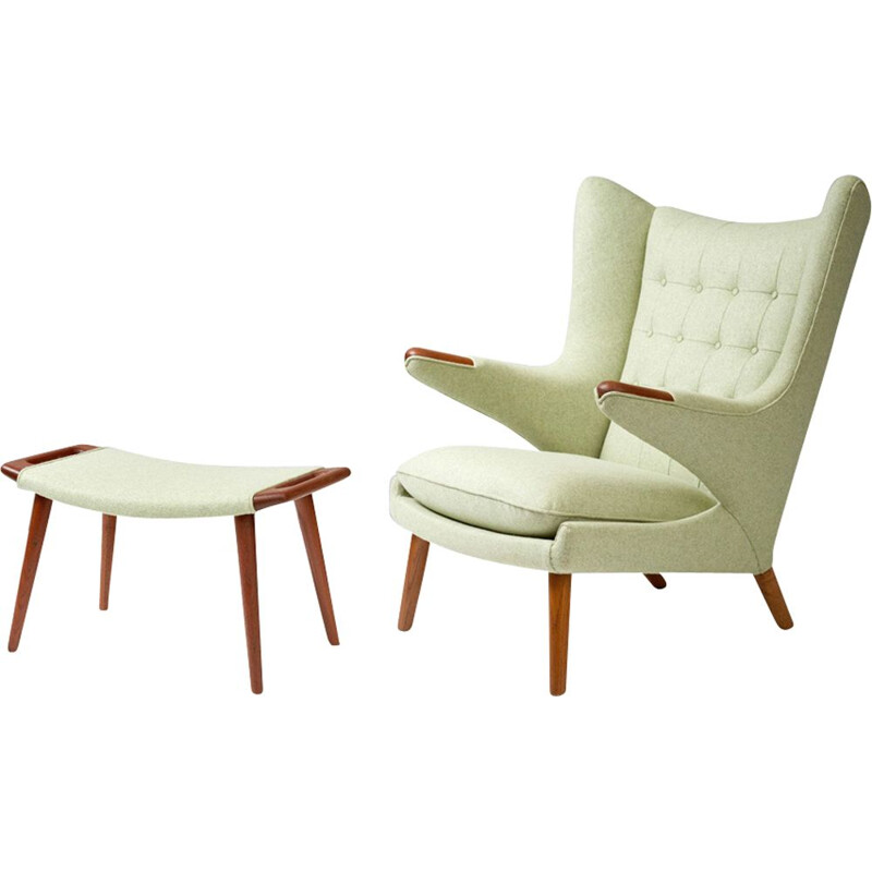 AP-19 armchair and ottoman by Hans J. Wegner