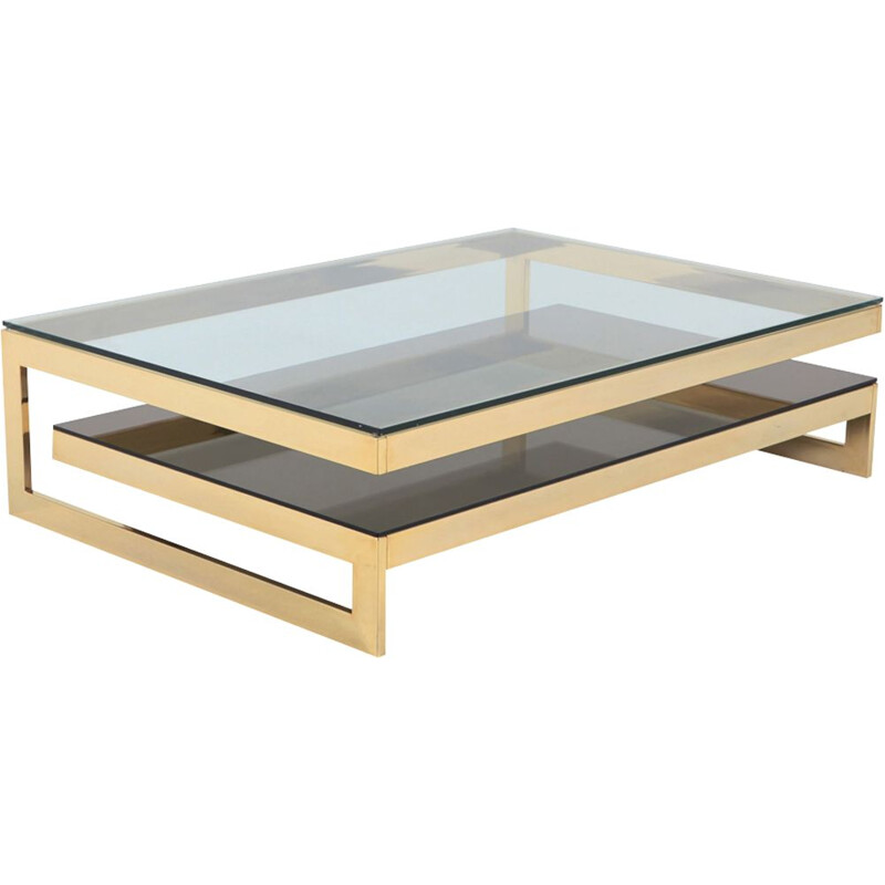 "Vintage coffee table ""Golden G"" by Belgo Chrome"