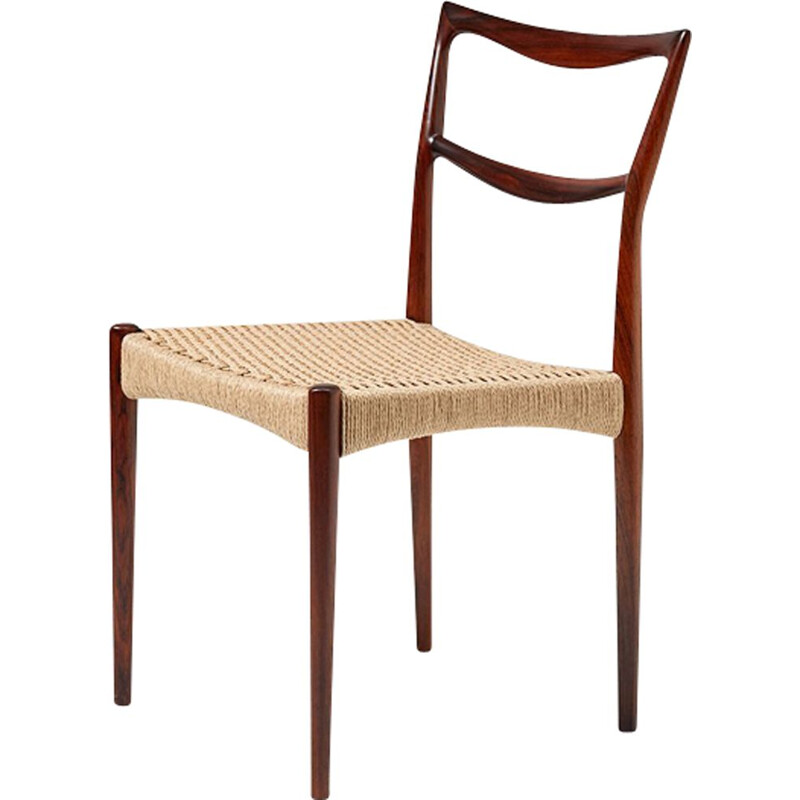"Vintage dining chair ""223"" in rosewood by Henry W. Klein"