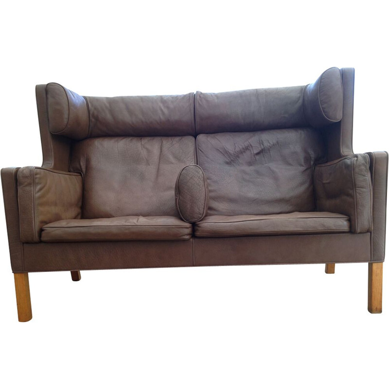Vintage 2192 sofa for Stalo in brown leather