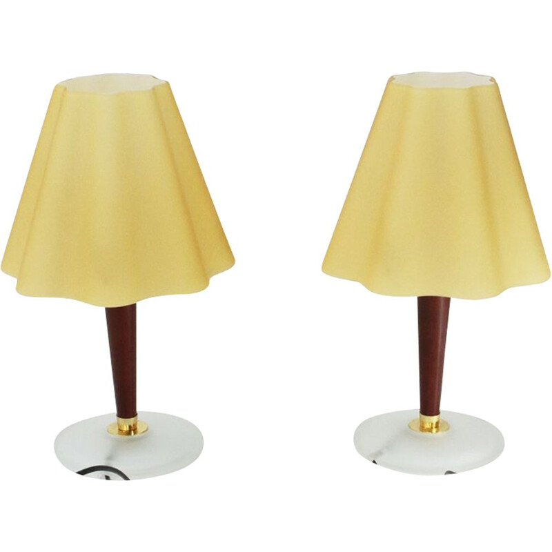 Pair of vintage glass lamps by Fabbian