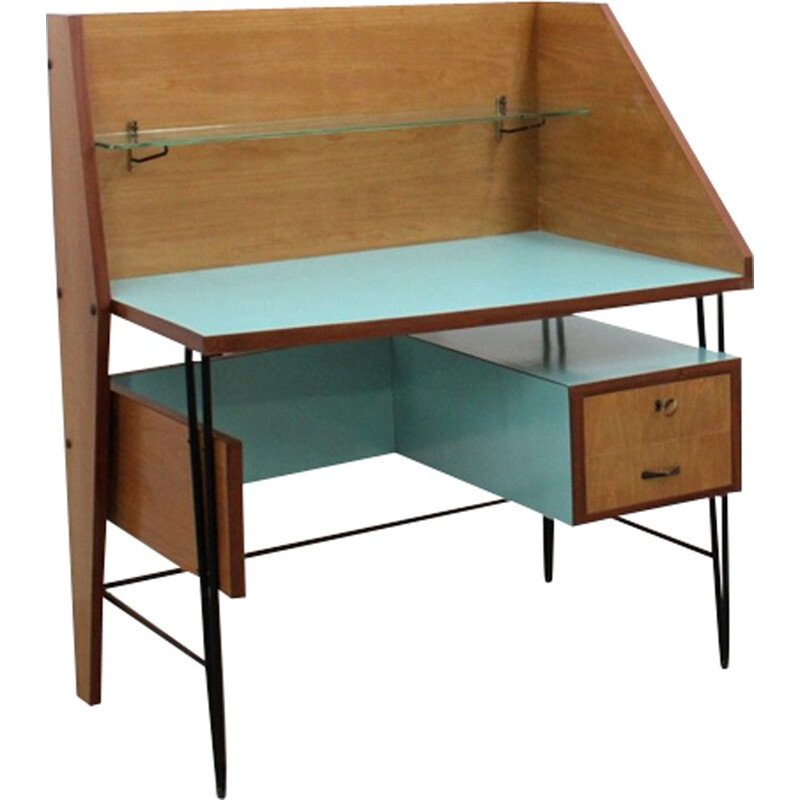 Vintage Italian desk with formica top