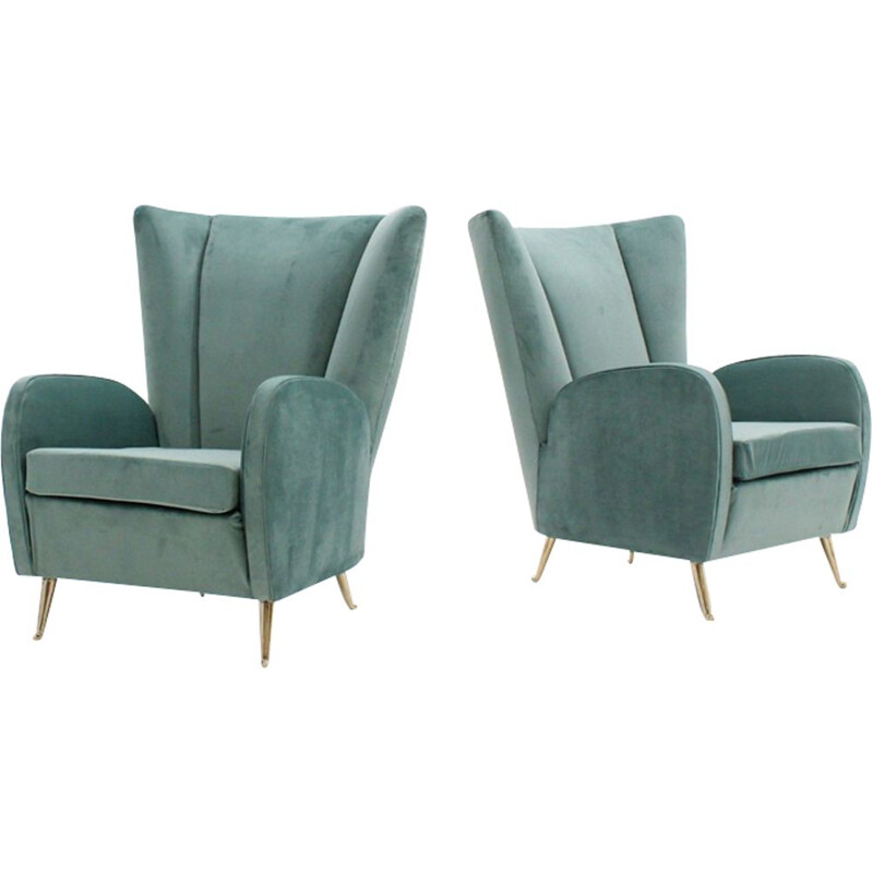 Set of 2 vintage Italian armchairs by ISA
