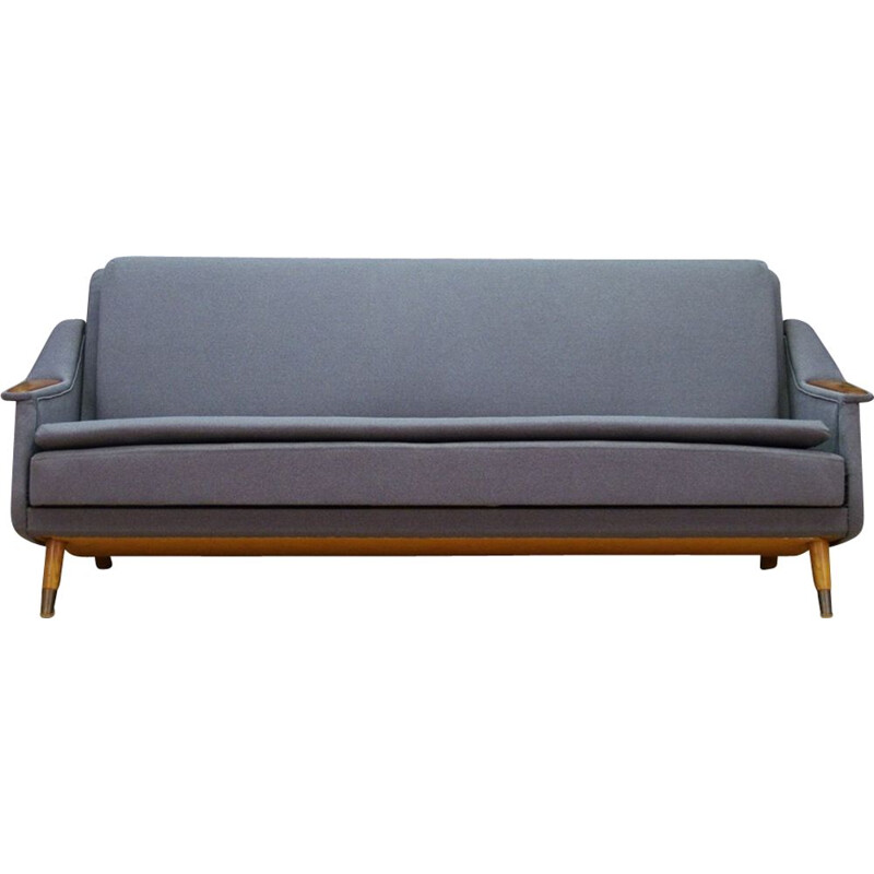 Vintage Scandinavian 3-seater sofa in teak
