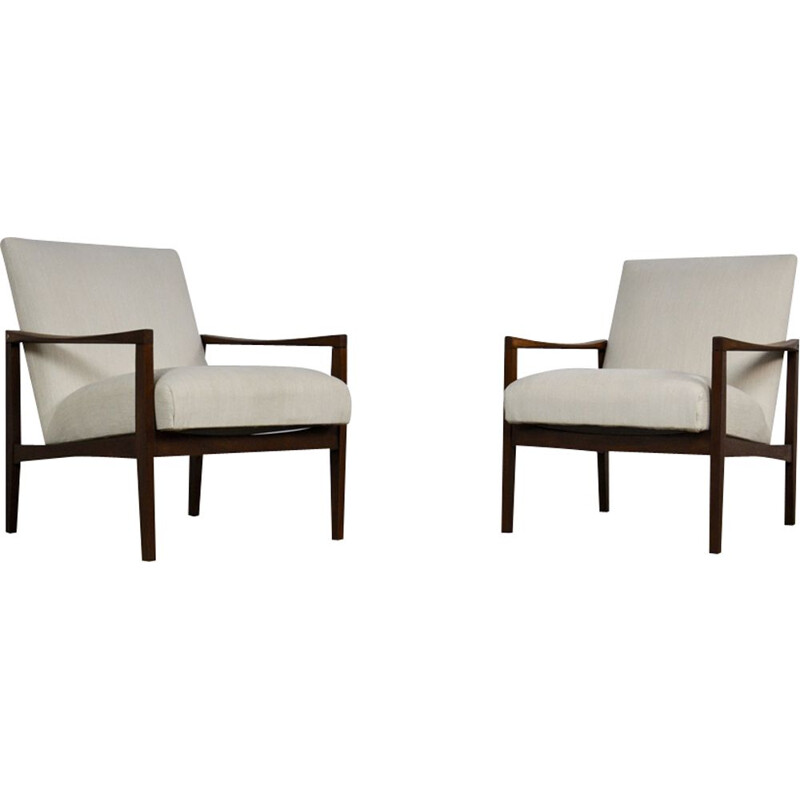 Set of 2 vintage Scandinavian armchairs