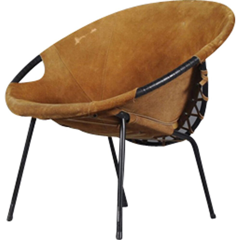 Vintage circle chair by Lusch Erzeugnis for Lusch & Co