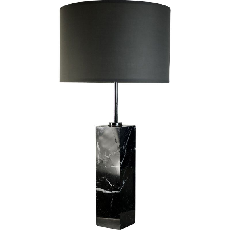 Vintage lamp in marble and steel by Florence Knoll
