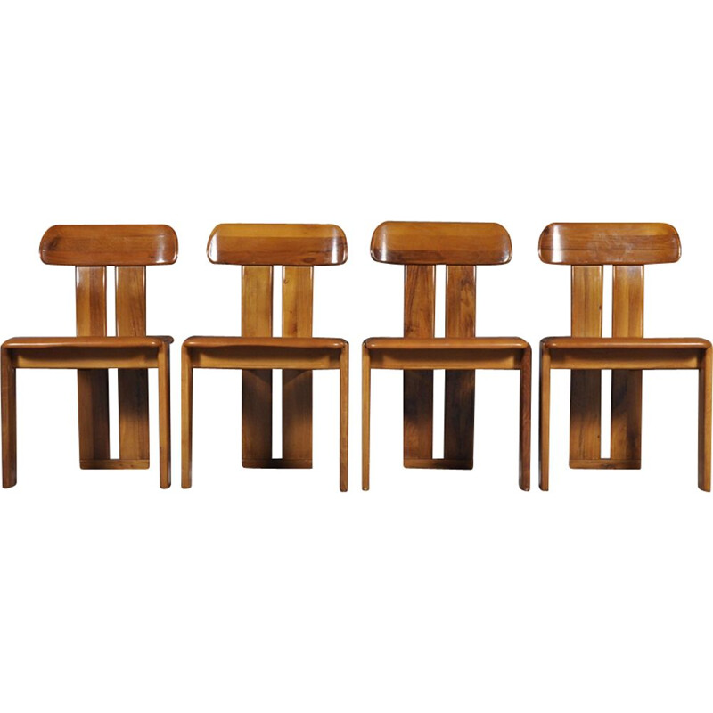 Set of 4 vintage Italian Dining chairs from Girgi Mobil
