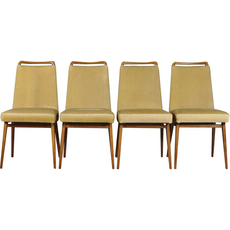 Set of 4 vintage Italian dining chairs
