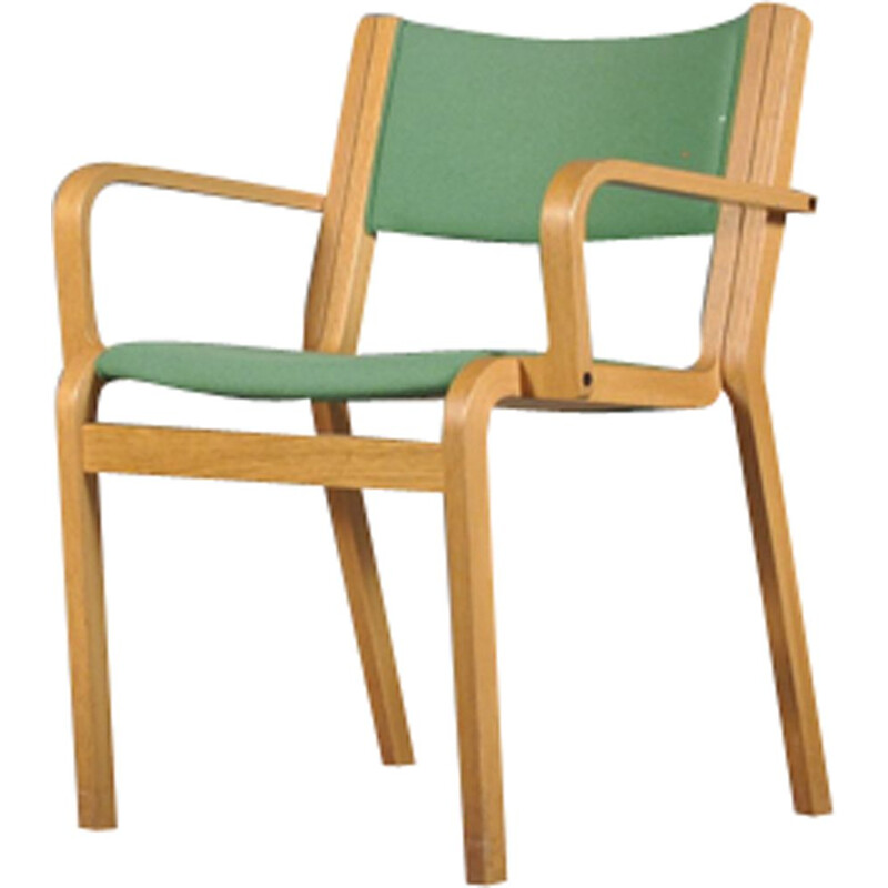 Vintage oak armchair by Rud Thygesen and Johnny Sorensen for Magnus Olesen
