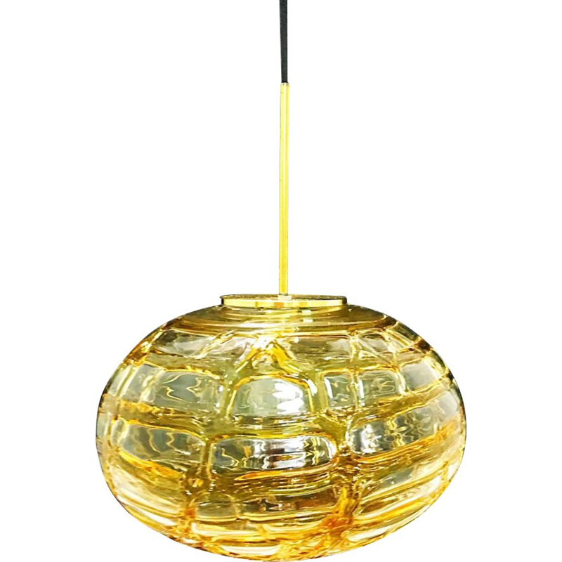 Vintage hanging lamp glass globe Mazzega