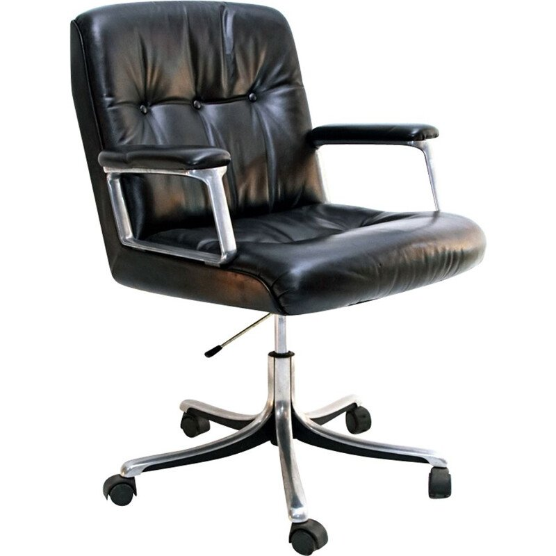 Vintage office chair P128 by Osvaldo Borsani for Tecno