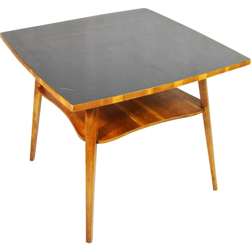 Vintage German side table with a black top
