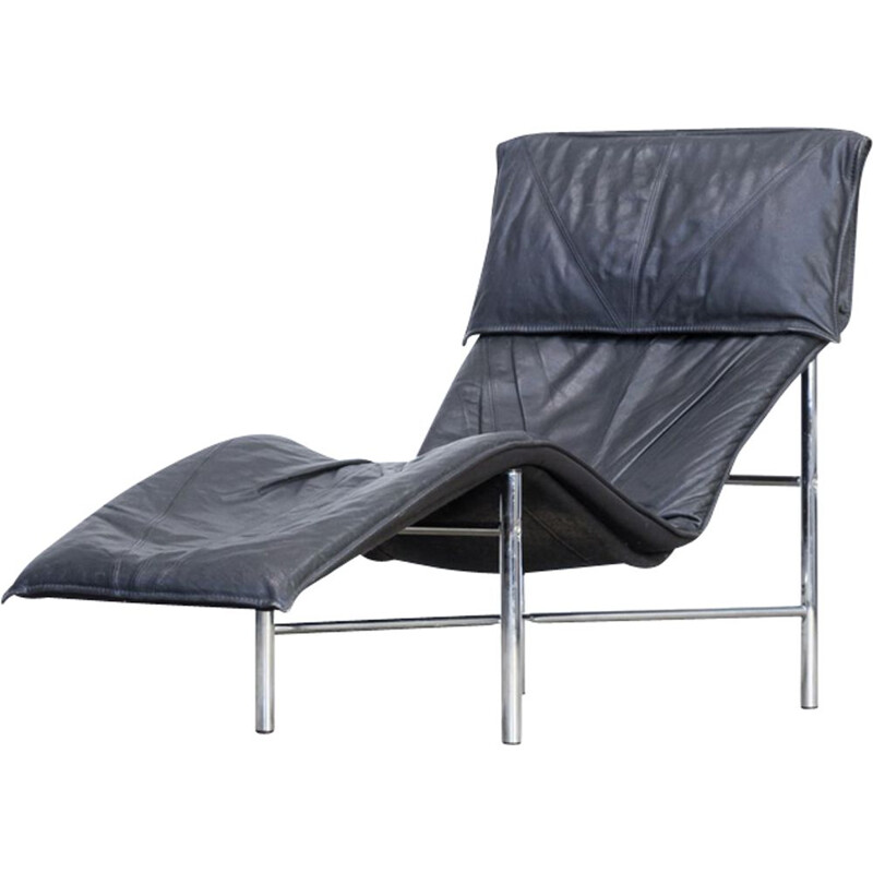 Vintage lounge chair Skye in leather by Tord Björklund