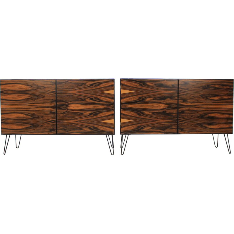 Set of  2 vintage rosewood sideboard by Omann Jun