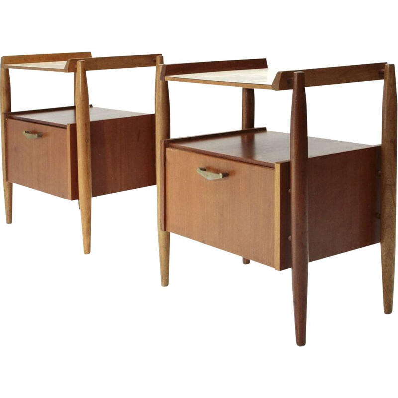 Set of 2 vintage Italian nightstand table