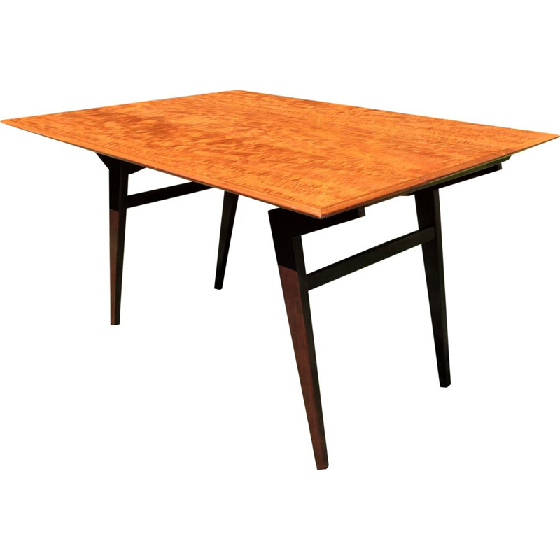 Vintage adjustable dining table in teak