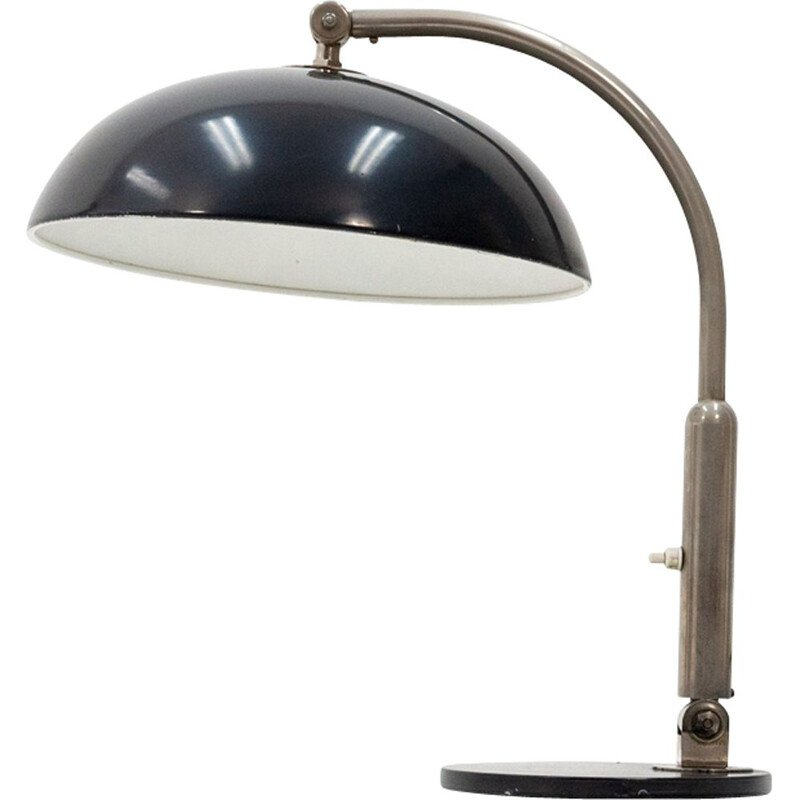 Black desk lamp in iron by Hala Zeist