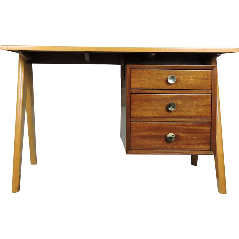 Vintage teak desk with formica top