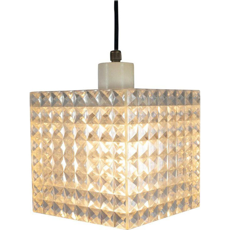 Diamond pendant light by Aloys Gangkofner for Erco