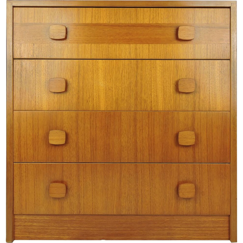 Vintage chest of drawers in oak by Gibbs & Co