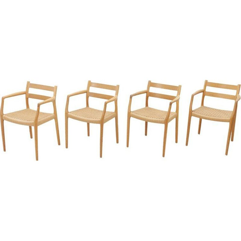 Set of 4 oak chairs by Niels Otto Moller