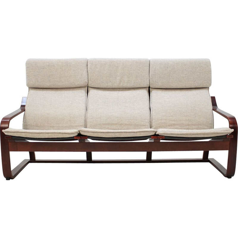 Vintage 3-seater sofa in bentwood by Ton Czechoslovakia