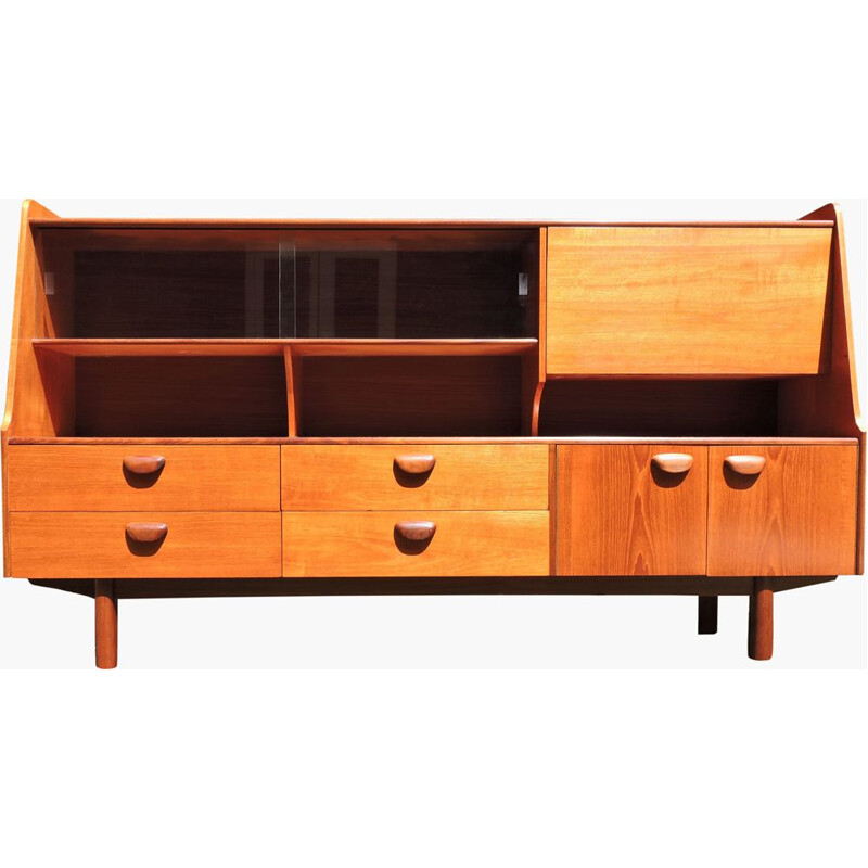 Vintage British highboard in teak by Portwood
