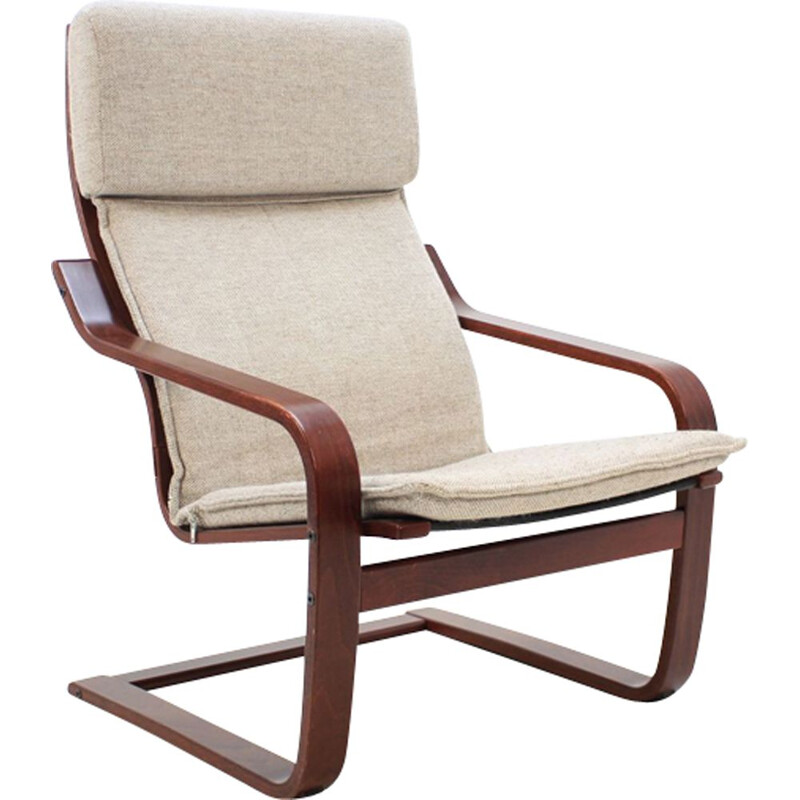 Vintage armchair in bent wood by Ton Czechoslovakia