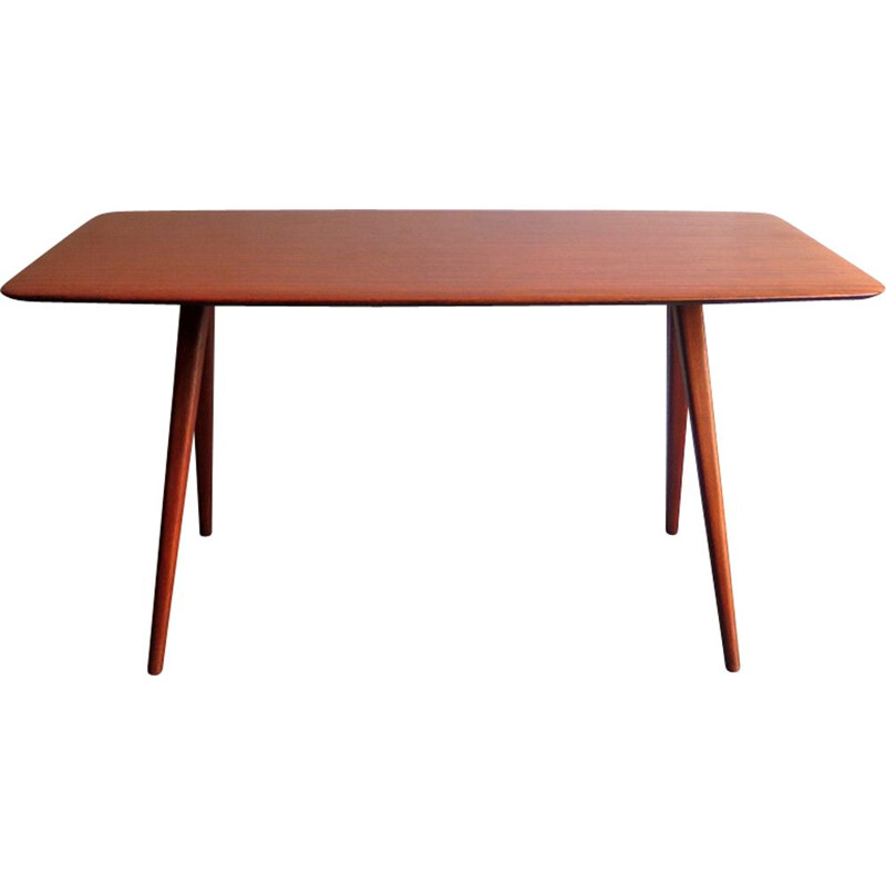 Vintage coffee table with scissor legs by Wilhelm Renz