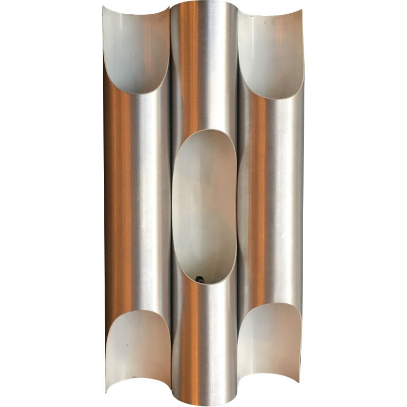 Vintage sconces in brushed aluminium by Lisa Komulainen 1970