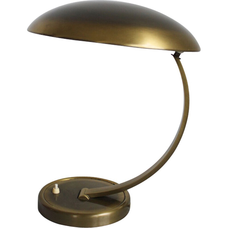 Vintage Kaiser Idell 6751 brass table lamp from Christian Dell