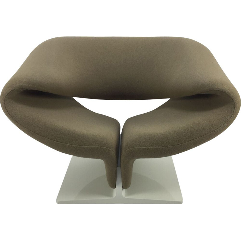 Vintage grey Ribbon armchair by Paulin for Artifort 1960