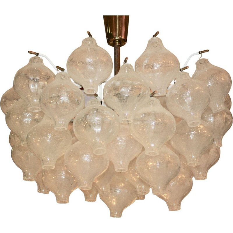 Vintage glass chandelier by J.T. Kalmar