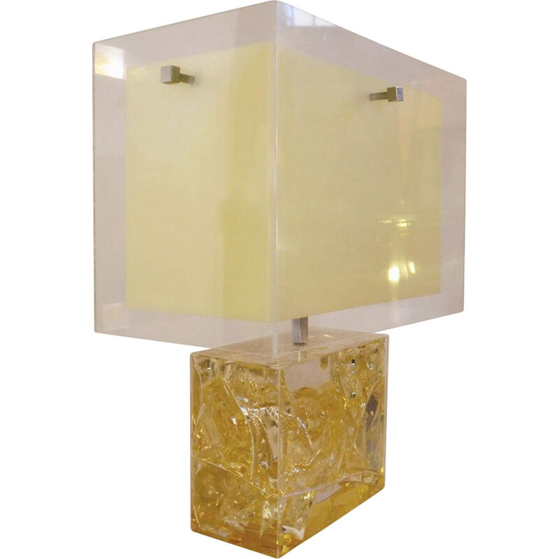 Vintage lamp in resin by Pierre Giraudon