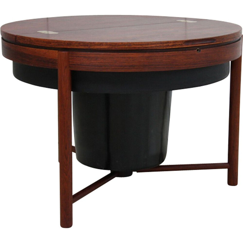 "Vintage Norwegian bar table ""Skylus"" in rosewood by Rastad & Relling"
