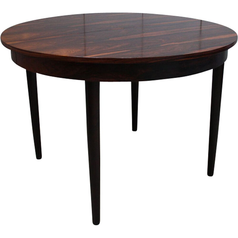 Vintage extendable dining table in rosewood by Poul Volther