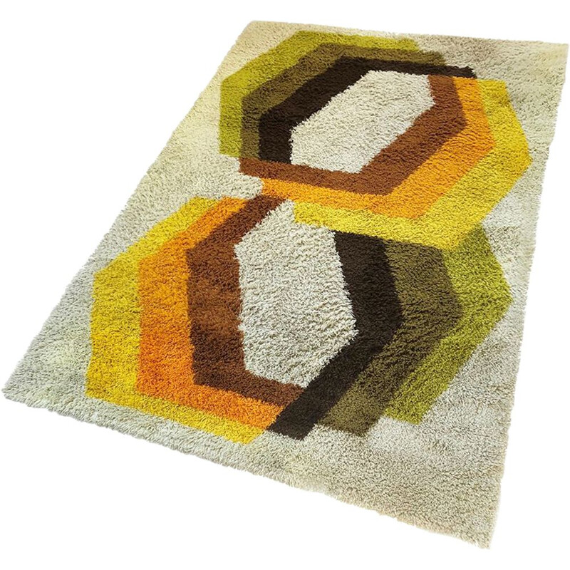 Vintage Dutch carpet in high pile wool by Desso
