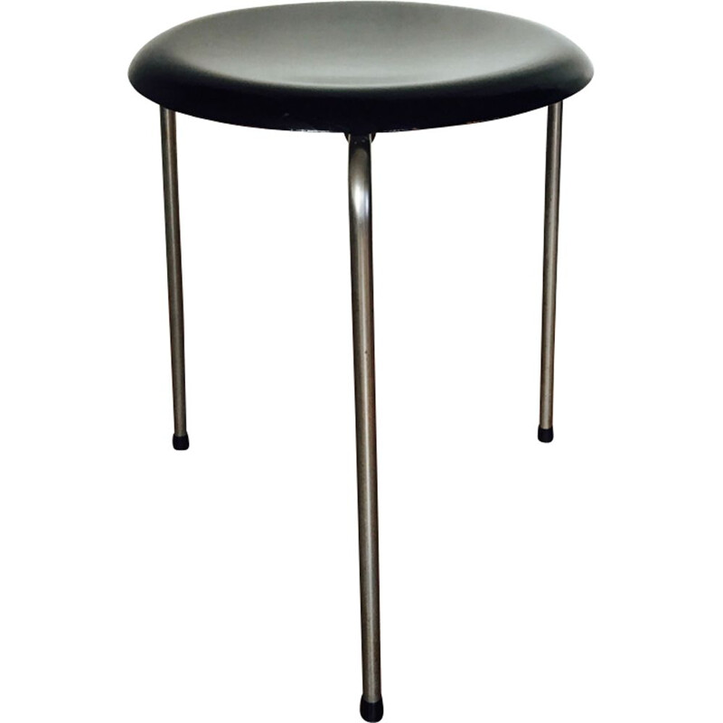 Vintage tripod stool by Arne Jacobsen