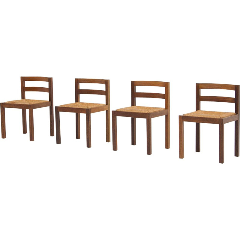 4 vintage chairs by Martin Visser 1960s