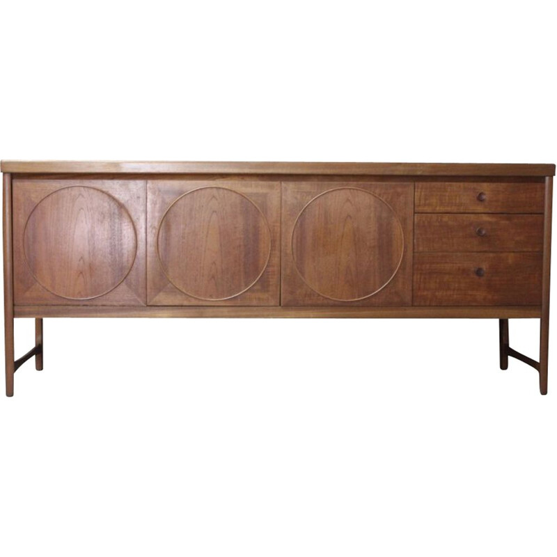 Vintage Scandinavian sideboard in teak by Nathan, 1960s