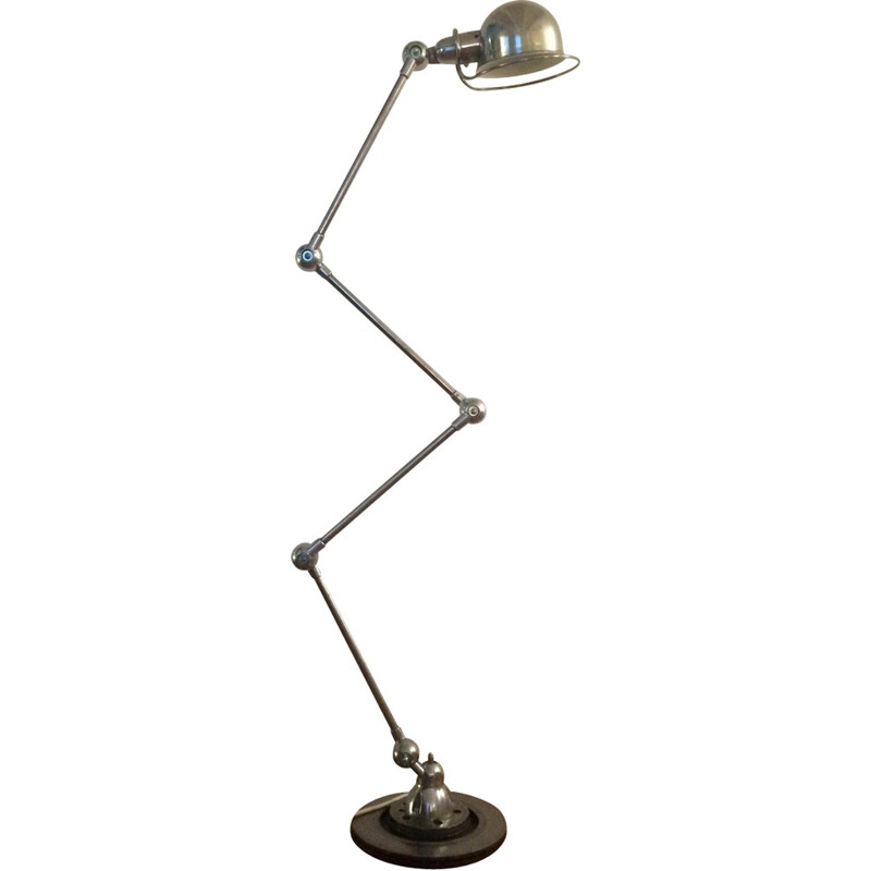 Industrial Jieldé lamp in chrome steel, Domecq - 1950s