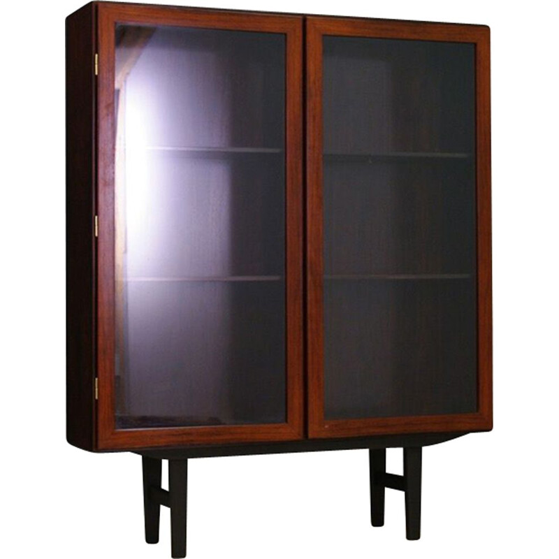 Vintage scandinavian bookcase for Omann Jun in rosewood 1960
