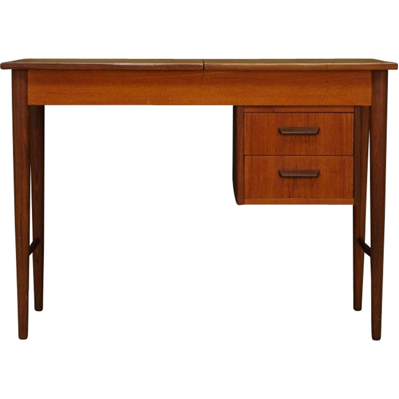 Vintage scandinavian desk in teak veneered 1960