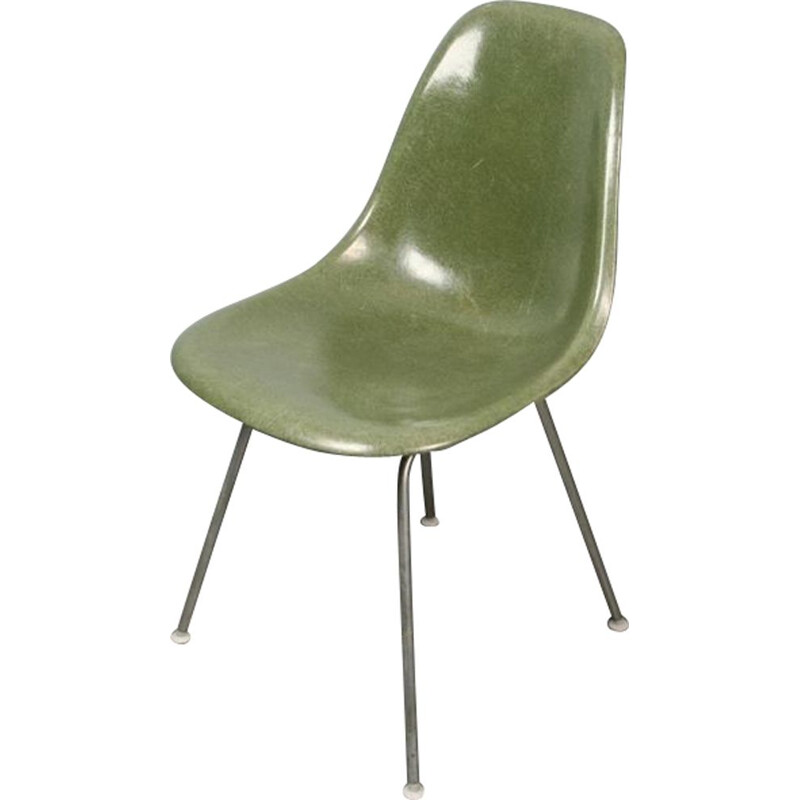 Vintage chair dsx green forest by Eames Herman Miller fiberglass