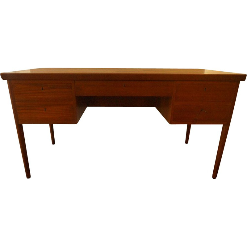 Vintage Scandinavian desk in teak