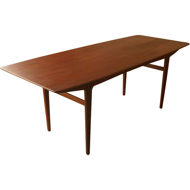 Scandinavian dining table in teak