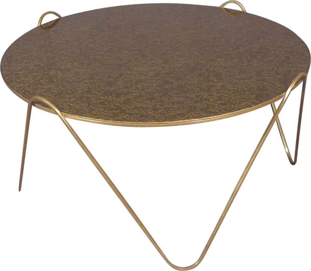 Round Coffee Table In Brass Design Market