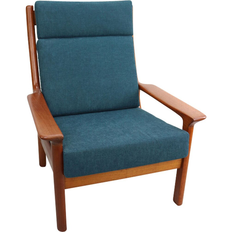 Vintage Danish armchair in teak by Juul Kristensen for Glostrup